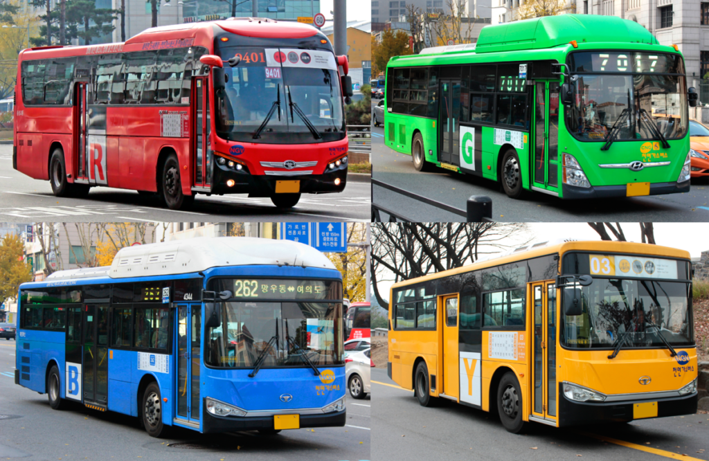 Transportation options in South Korea