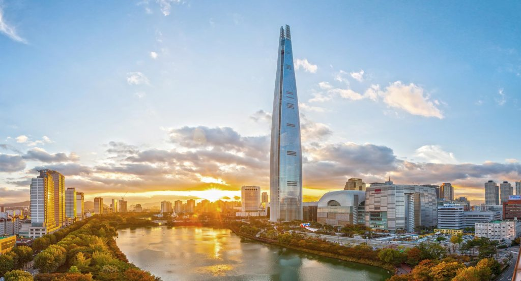 Lotte World Tower - great for escaping from the rain