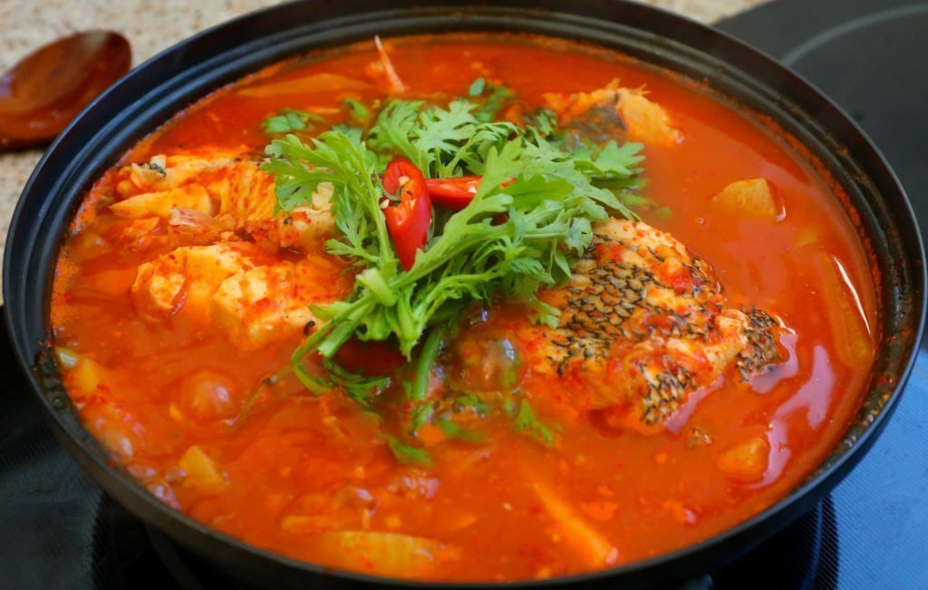 Spicy fish soup from the Jagalchi Fish Market