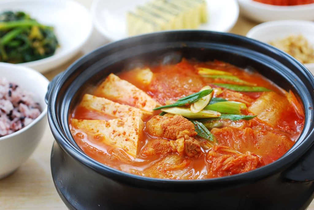 Kimchi jjigae - definitely one of the best Korean winter foods available