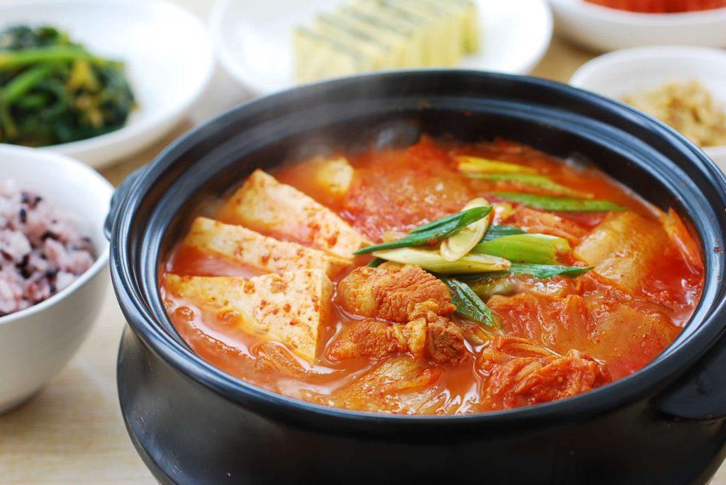 Kimchi jjigae - definitely one of the best Korean winter foods available
