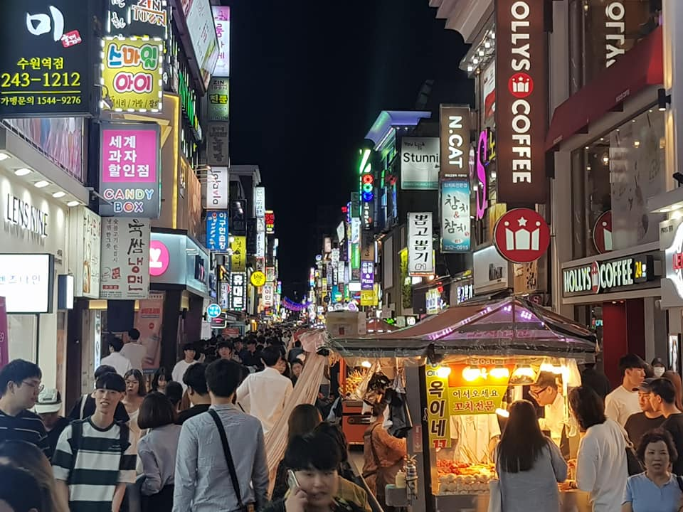 Cafes are open late at night in South Korea