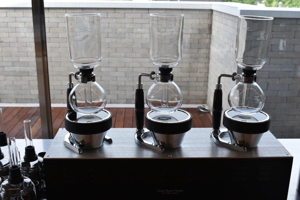 Siphon coffee in Blue Bottle Coffee in Seoul, South Korea