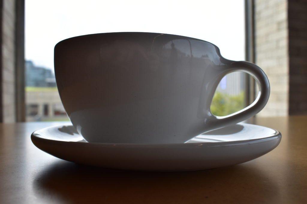 Simple yet elegant mug in Blue Bottle, Seoul