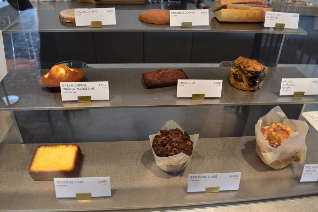 Food at Blue Bottle Coffee in Seoul, South Korea