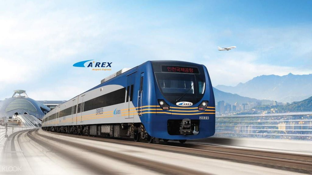 Take the AREX from Incheon Airport to Seoul
