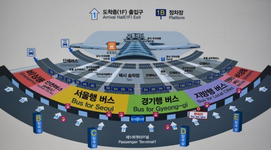 Transport Map To Show How To Get From Incheon Airport To Seoul