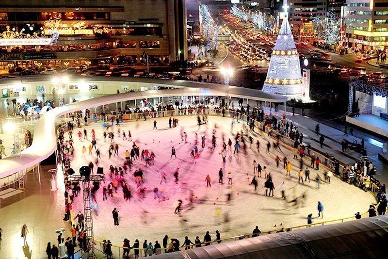 Ice Skating in Seoul