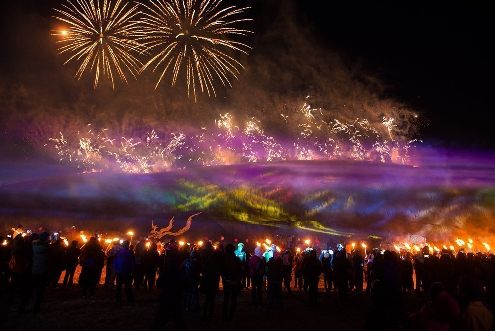 Jeju Fire Festival, one of the big spring festivals in Korea