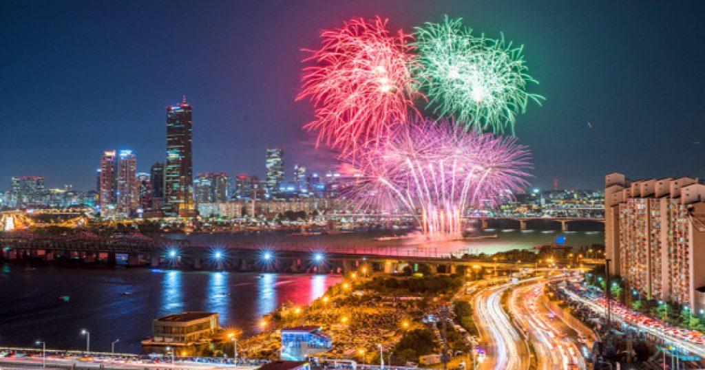 New Year's Eve Fireworks in Seoul