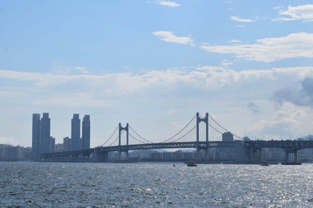 The Gwangan Bridge in Busan, Korea