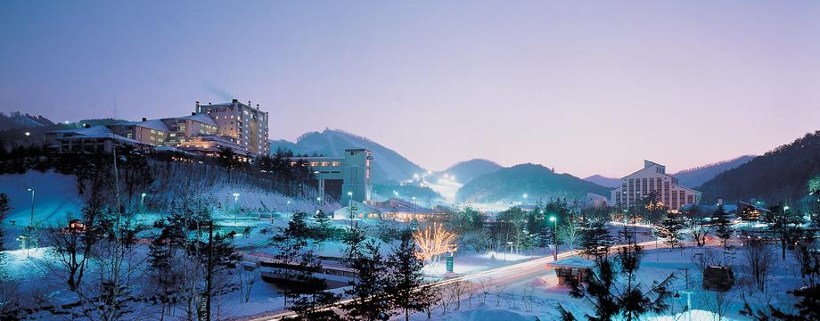 Yongpyong Ski Resort In Korea