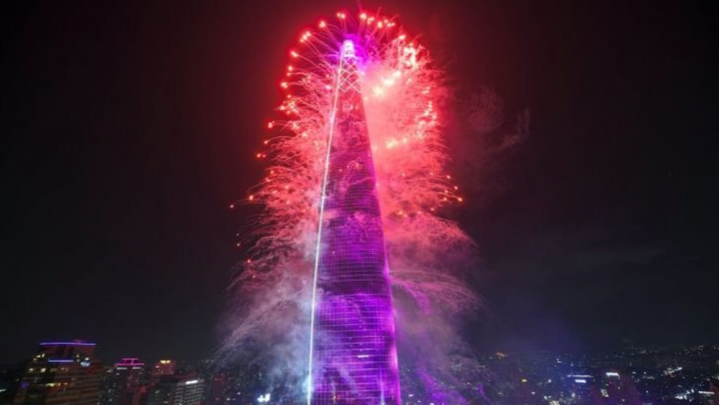 Lotte World Tower during New Year's Eve