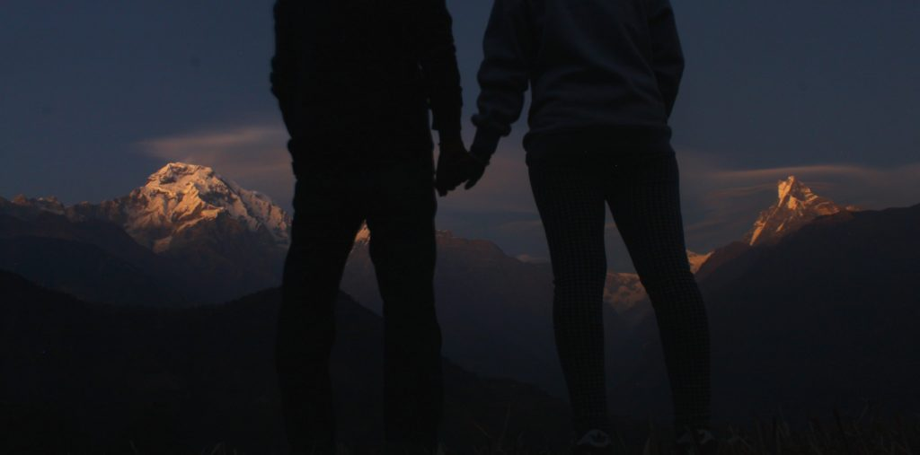 Couple travelling together