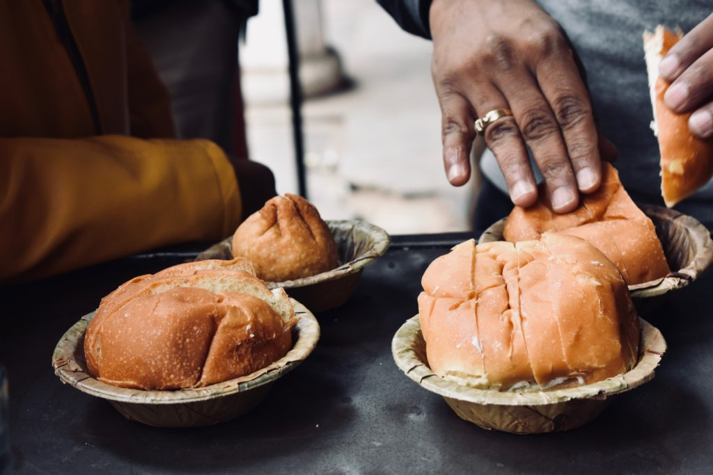 Eating while travelling requires a good hand sanitizer or hand washing