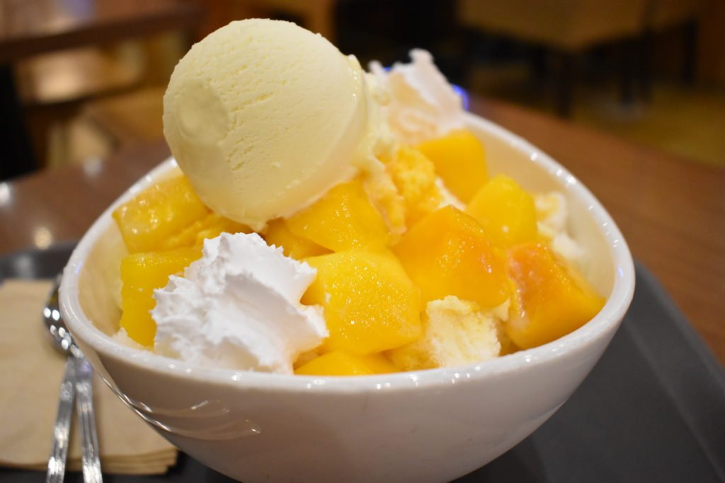 Bingsu desserts are one of the must try summer foods in Korea.