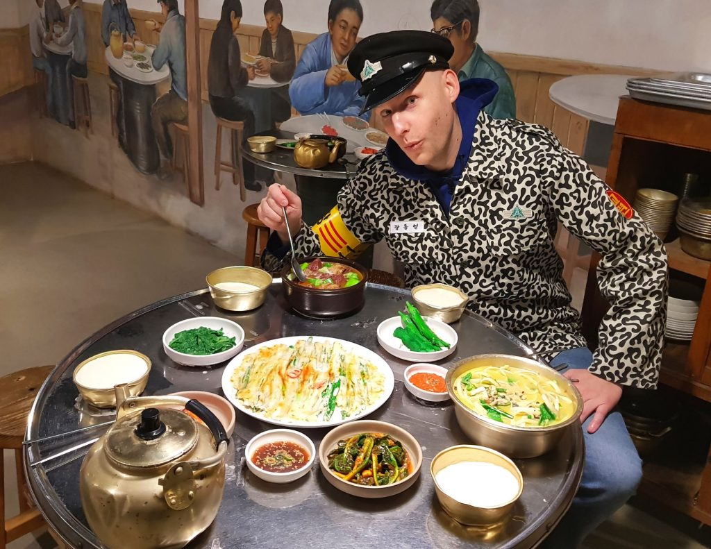 Joel can enjoy traditional Korean dishes with these easy Korean phrases for ordering food.