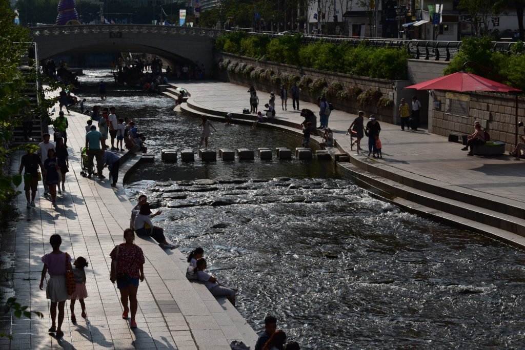 Cheonggyecheon Stream in Seoul, South Korea