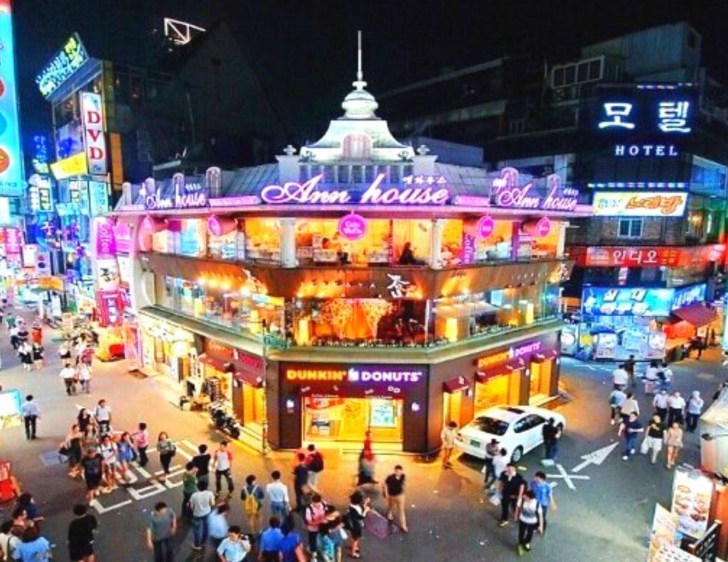 Hongdae at night, Seoul, Korea