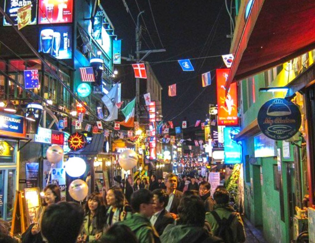 Itaewon, a great place to add to a one week itinerary for Korea