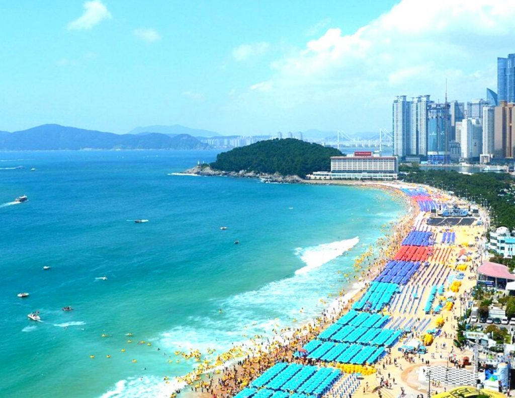Haeundae Beach in Busan should be on any one week itinerary for Korea
