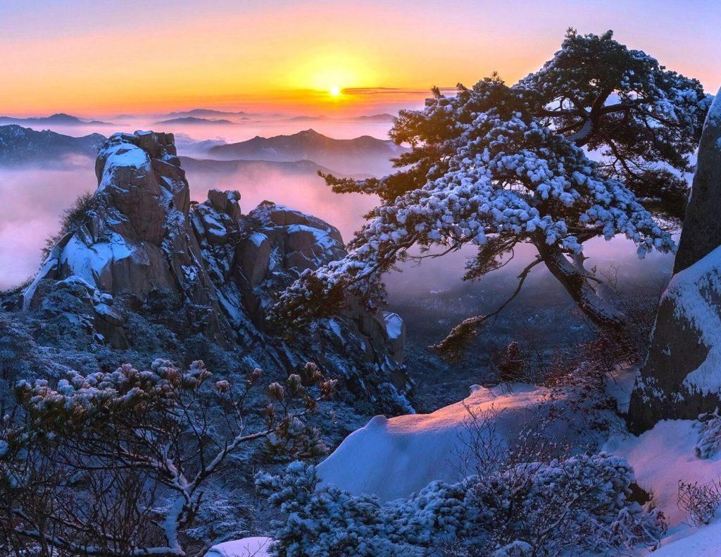 Snow at Bukhansan National Park