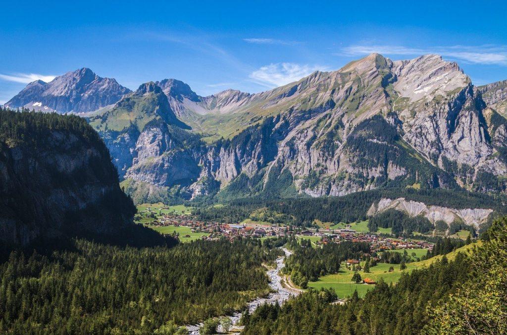 Kandersteg Mountains in Switzerland