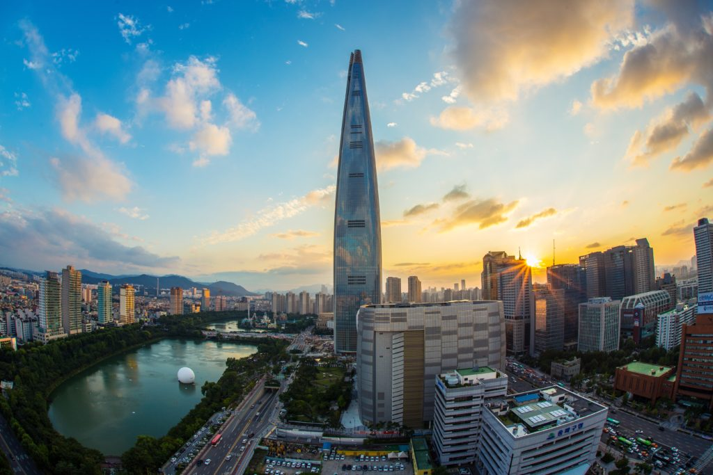 Lotte World Tower can be a big cost to travel in Korea, but worth it.