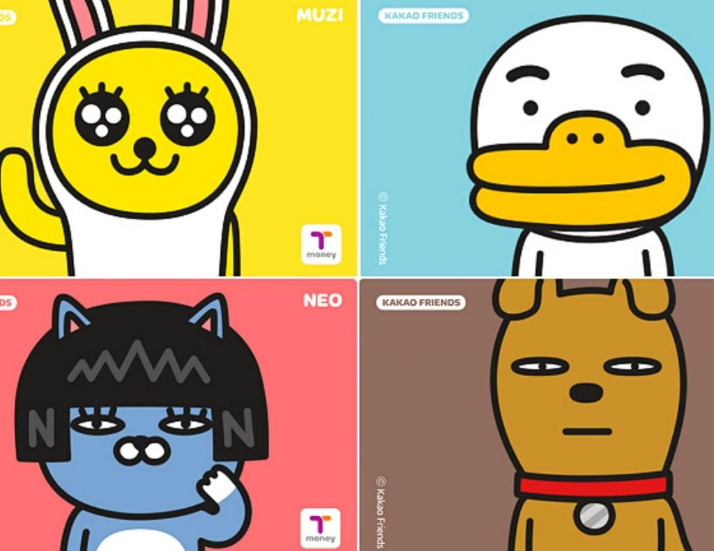 T-Money Card In Korea and cute Kakao Characters