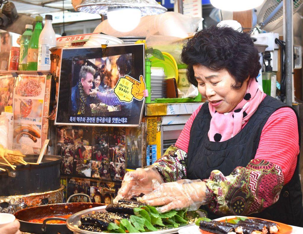 Gwangjang Market in Seoul, Korea