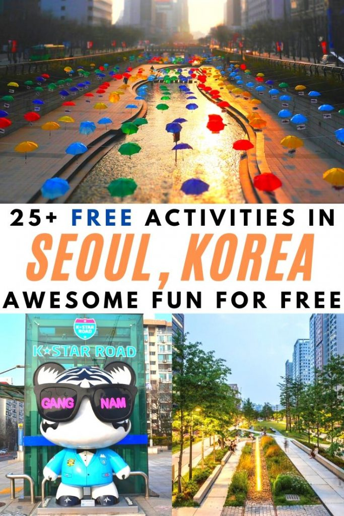 Free Things To Do In Seoul Pin