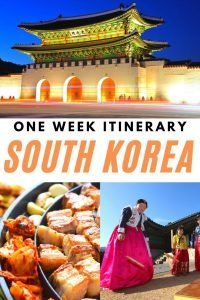 One Week Itinerary For Korea Pin