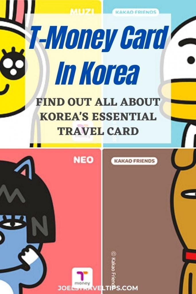 T Money Card In Korea