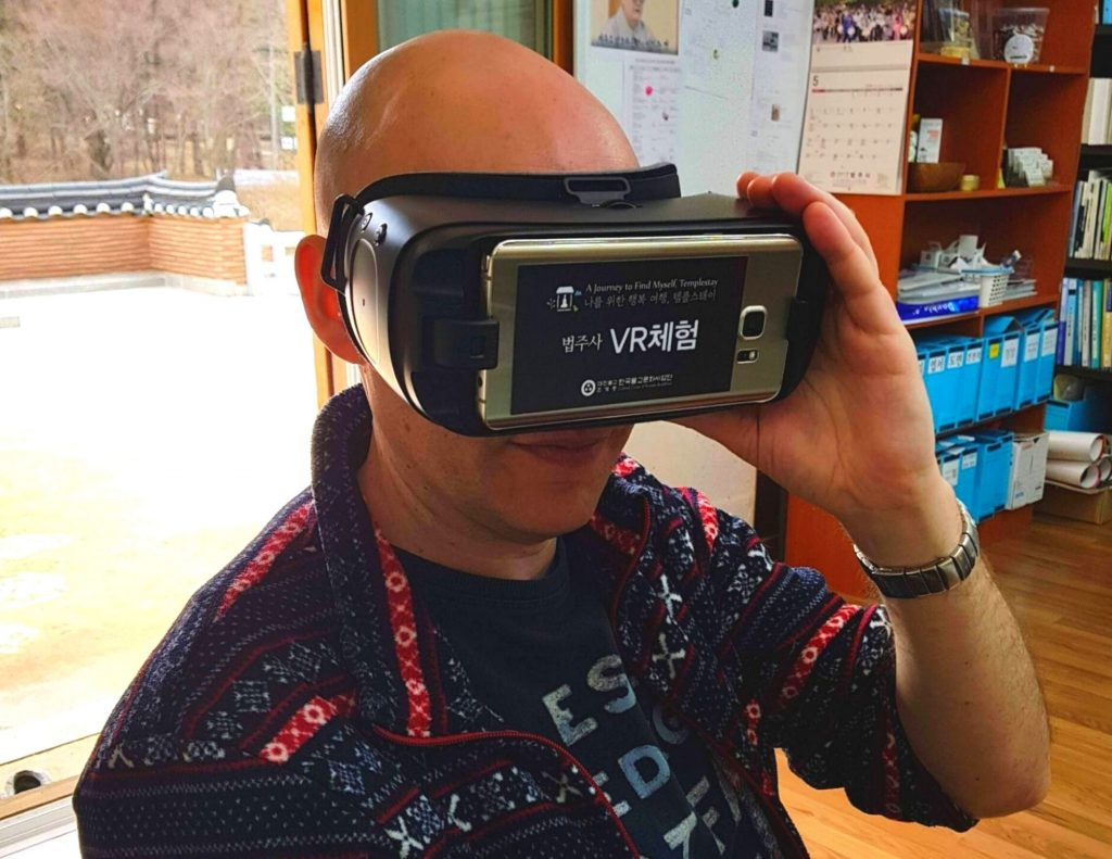 VR Tech at a Buddhist Temple in Korea