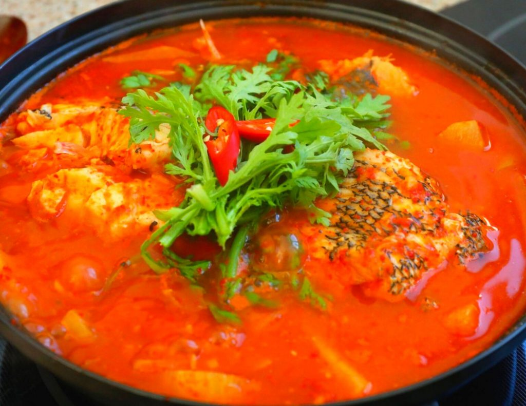 Maeuntang Spicy fish soup from the Jagalchi Fish Market