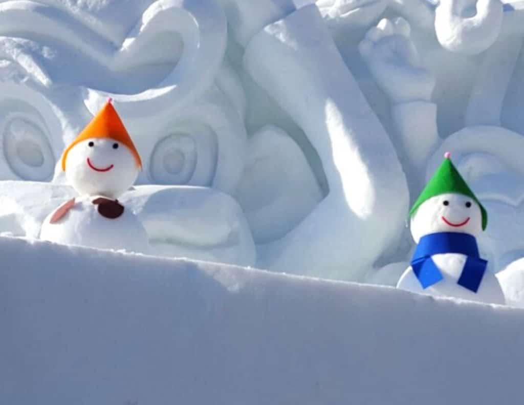 Snow sculptures at winter festivals in Korea