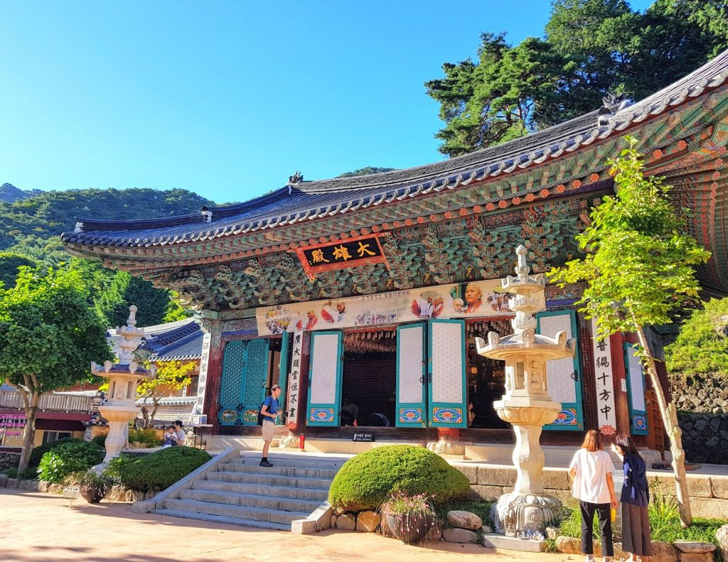 Korean temple in autumn: One of the best times to visit Korea