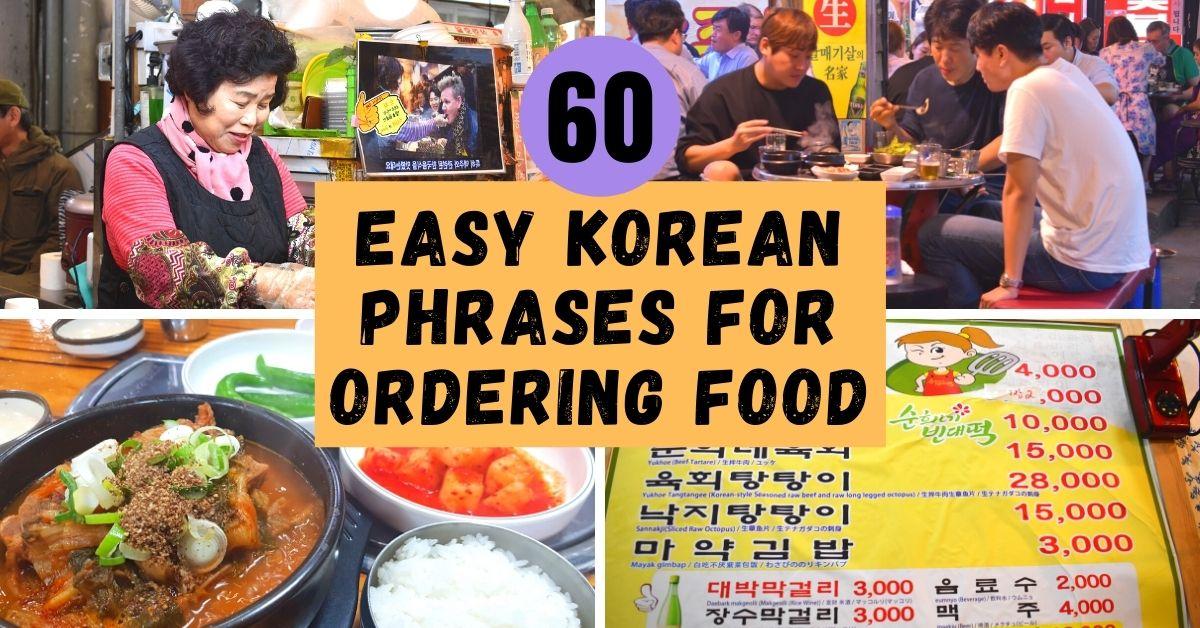 60 Easy Korean Phrases For Ordering Food