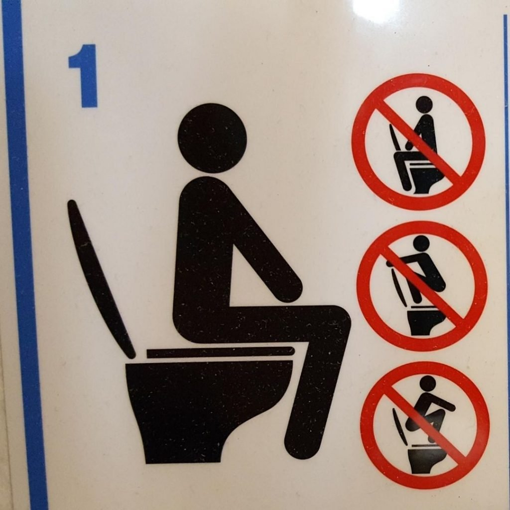 Toilet Sign From Korea