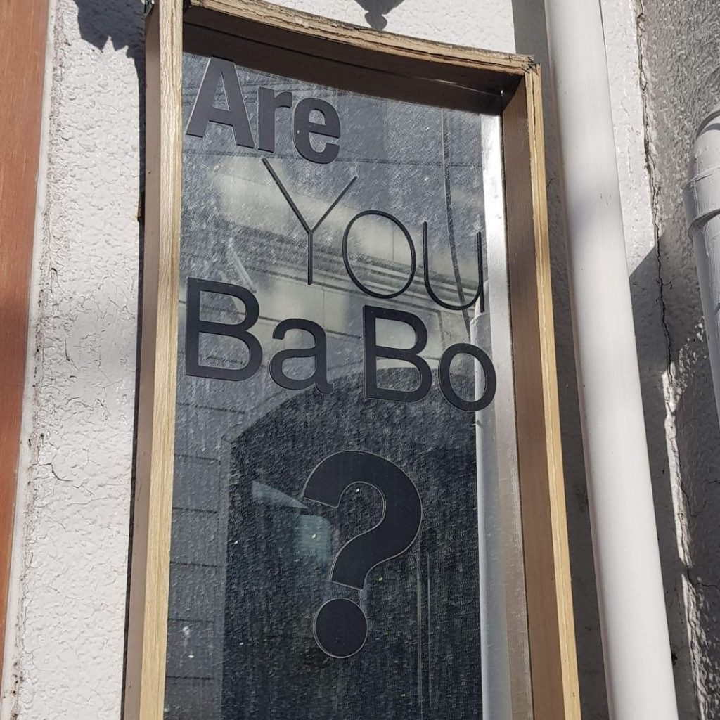 Are You Babo? Sign