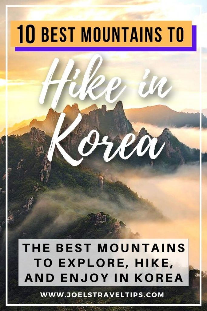 10 Amazing Mountains To Hike In Korea