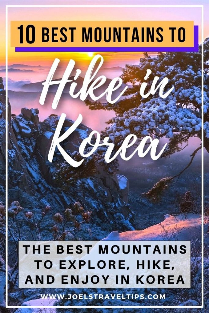 10 Best Mountains To Hike In Korea