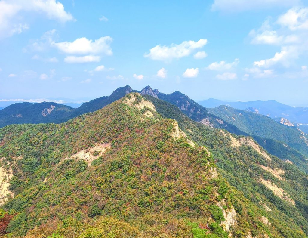View of mountains to hike in Korea