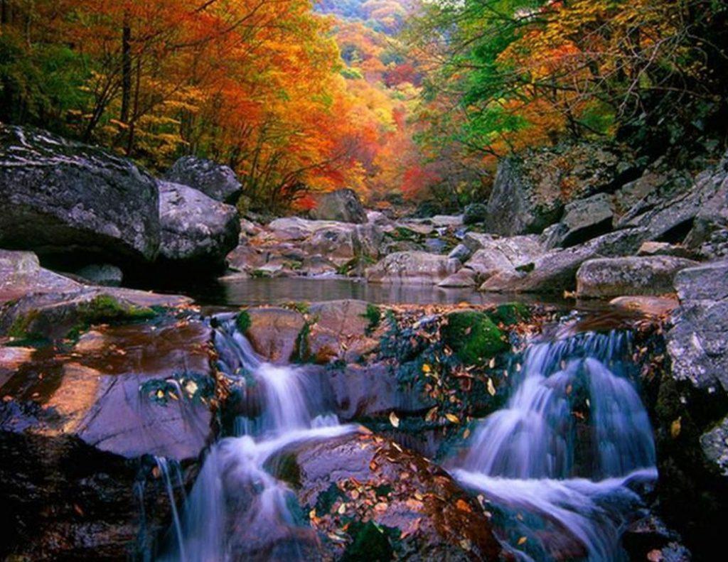 Views of Jirisan National Park in Korea