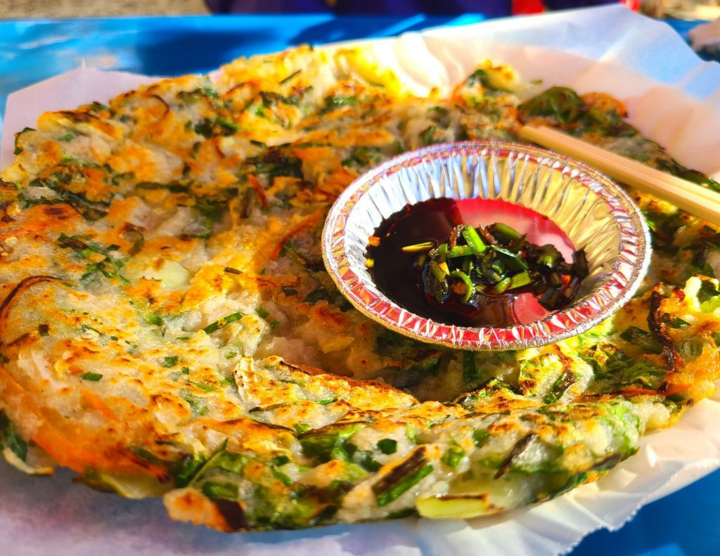 Pajeon (Korean pancake) - the perfect way to end a day hiking in Korea