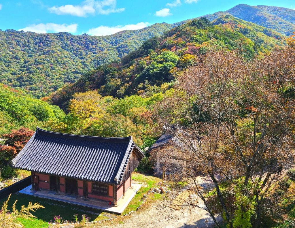 Views of Deogyusan Mountain during an autumn hike in Korea