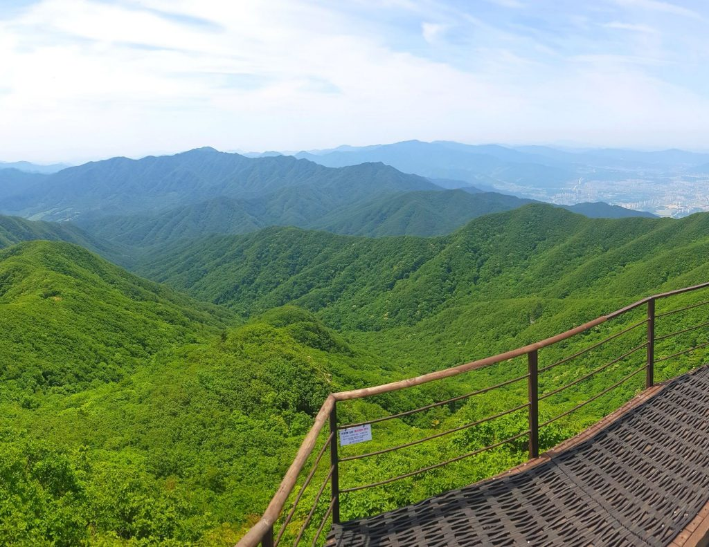 Green valleys and mountains in Korea