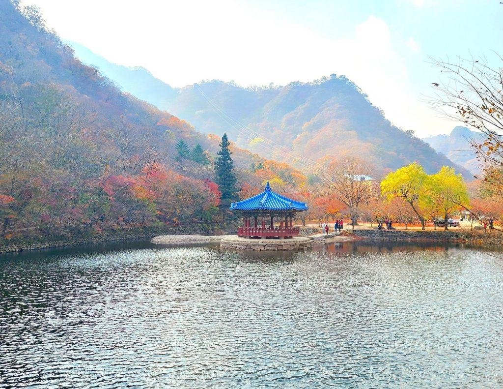 Uhwajeong Pavilion at Naejangsan National Park, Korea